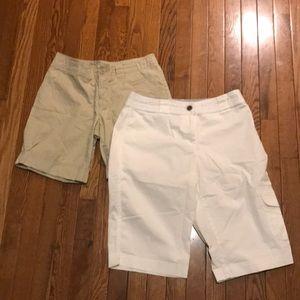 Bundle, 2 pair of Women's size 6 shorts & capris